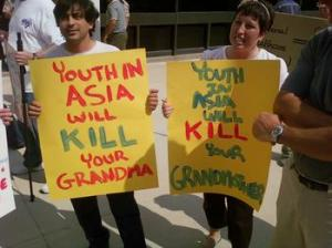 2.  For the record I am against youth in asia killing your grandma