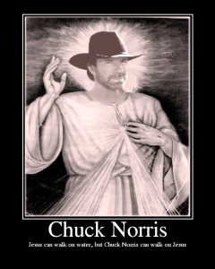 Sure, Jesus could walk on water...but Chuck could walk on Jesus' face
