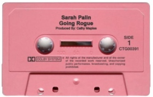 To satisfy the demands of the illiterate majority of Palin's fans- the book will also be released on cassette, with narration provided by long time Republican supporter Bobcat Goldwaith.