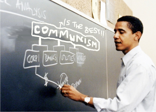 Professor Obama at work teaching his class the fundamentals.