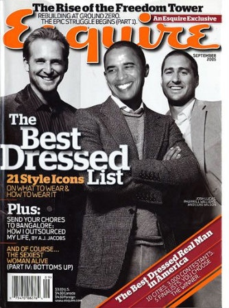 Esquire named the President the best dressed leader of any free world.
