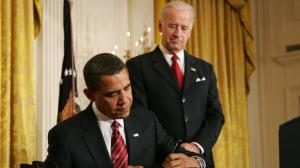 (FROM BABY STEPS TO BREAKTHROUGHS) May 27- Biden notices a marked improvement in Obama's writing.